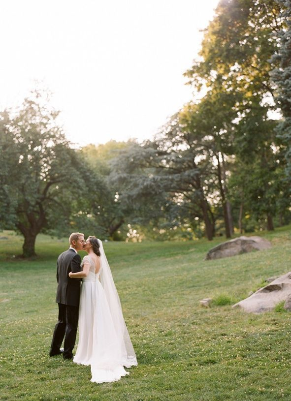 Black And White Wedding Lace Wedding Dress Central Park