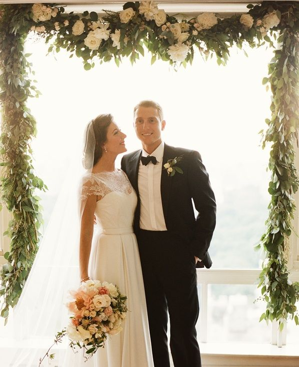 Wedding Altar Images: Black Tie Manhattan Wedding