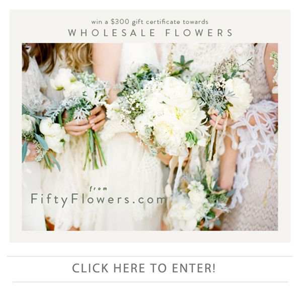 Win Wholesale Flowers from FiftyFlowers.com