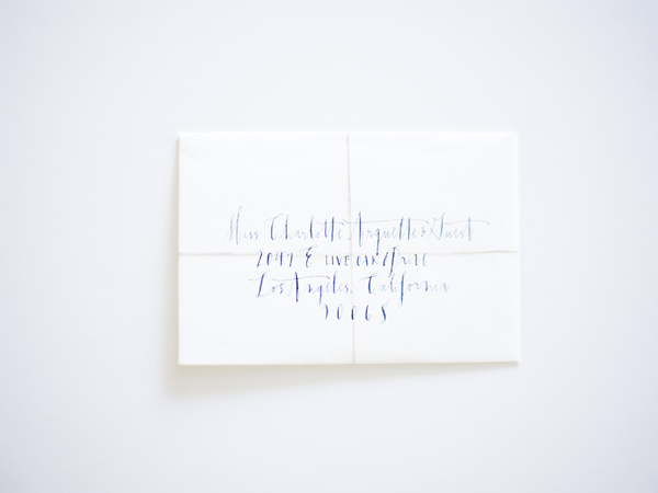 Calligraphy Wedding Envelope Writing Invitation Blue White