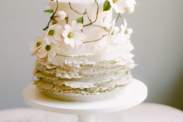 Dogwood White Flower Wedding Cake Maggie Austin