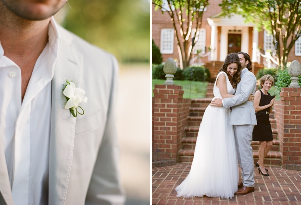 elegant-virginia-outdoor-wedding-boutonniere-bride-groom