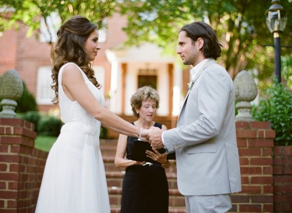 Elegant Virginia Outdoor Wedding Ceremony Officient