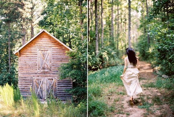 Farm Fresh Engagement Barn Bride Rustic Woods