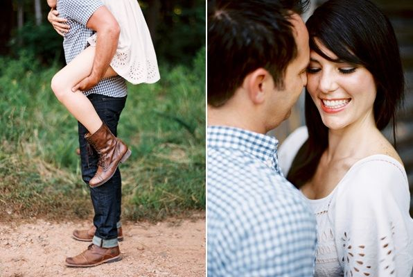 Farm Fresh Engagement Blue White Rustic Outdoors