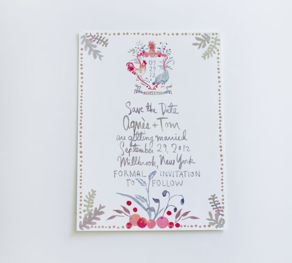 Watercolor wedding stationery suite