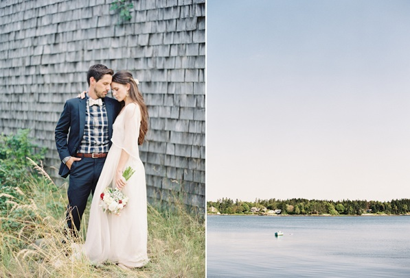 Natural East Coast Maine Wedding Bay Outdoors Elegant Rustic