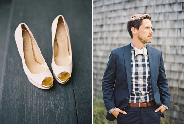 Natural East Coast Maine Wedding Shoes Plaid Grooms Shirt