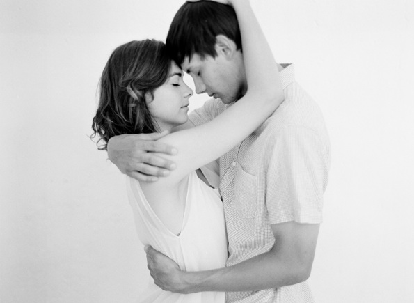Natural Engagement Photos Intimate Romantic White