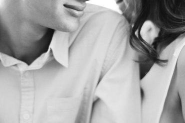 Natural Engagement Photos Soft Casual White