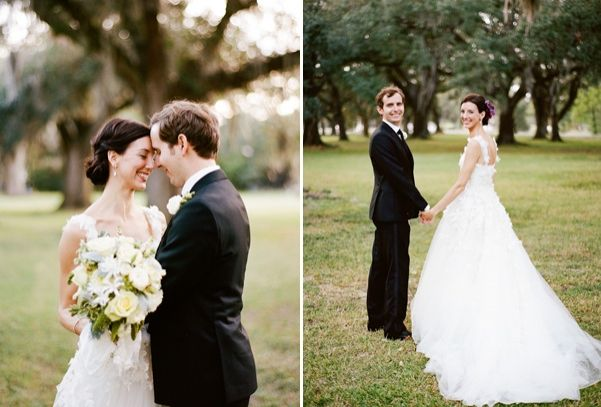 New Orleans French Quarter Wedding Bride Groom Yellow White Bouquet