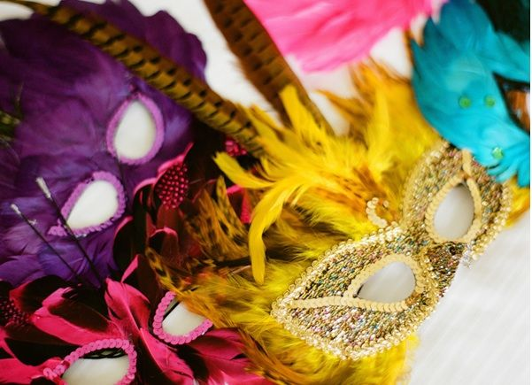 New Orleans French Quarter Wedding Marti Gras Masks