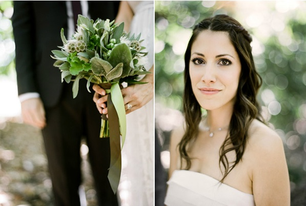 Rustic Ojai Garden Wedding Bridal Bouquet Hair Makeup Beauty