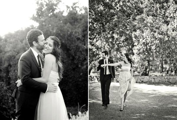Rustic Ojai Garden Wedding Bride Groom Garden Walk
