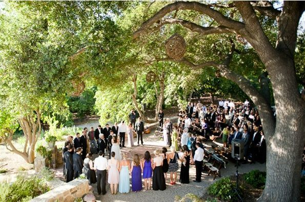 Rustic Ojai Garden Wedding Ceremony Decor People Wedding Party