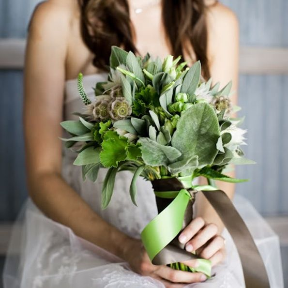 Rustic Ojai Garden Wedding Green Bridal Bouquet