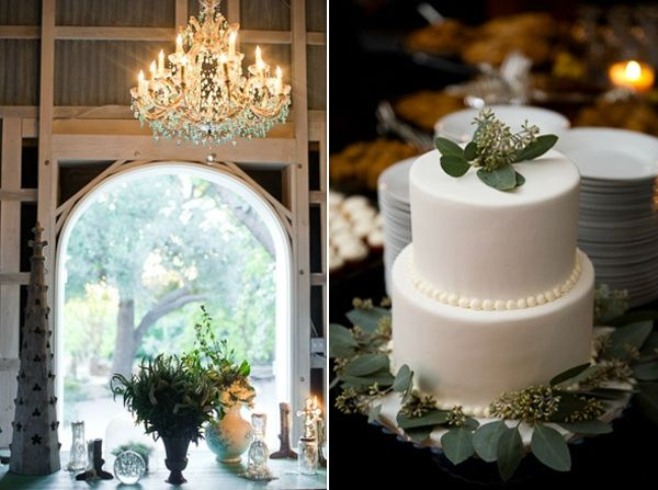 Rustic Ojai Garden Wedding Industrial Chic Reception Cake