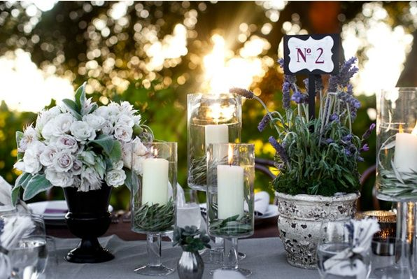 Rustic Ojai Garden Wedding Lavender Table Numbers