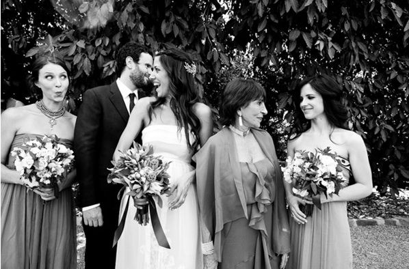 Rustic Ojai Garden Wedding Party Family Bouquets