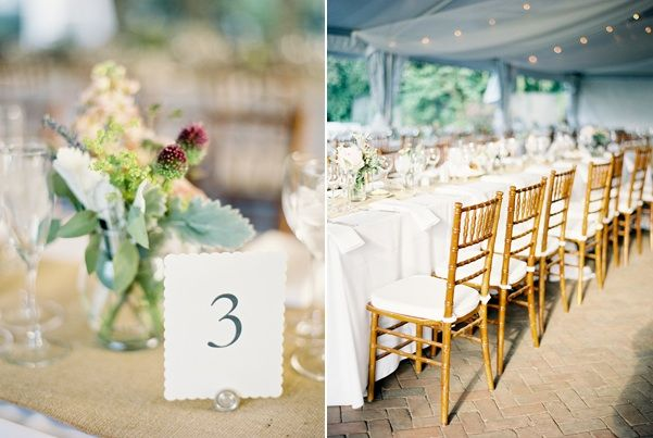 spring garden wedding table numbers white tent reception flower
