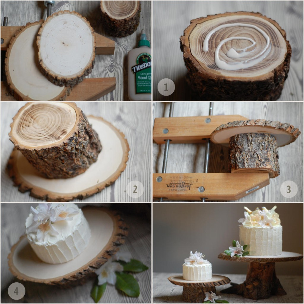 rustic-wedding-cake-stand-diy-instructions - Once Wed