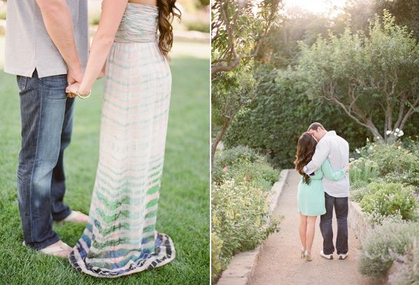 Whimsical Ranch Engagement Blue Green Dress Casual