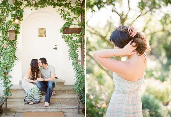 Whimsical Ranch Engagement Outdoor Ivy Natural Wedding Hair