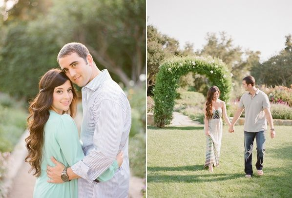 Whimsical Ranch Engagement Turquoise Dress Ivy Arch Outdoors