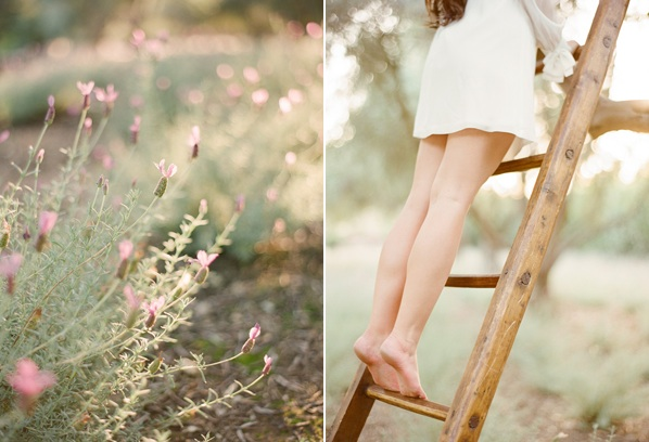 Whimsical Ranch Engagement White Dress Lavender