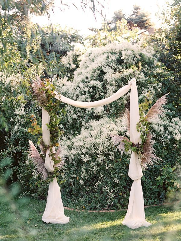 Foraged Fall Wedding Ceremonies Arch