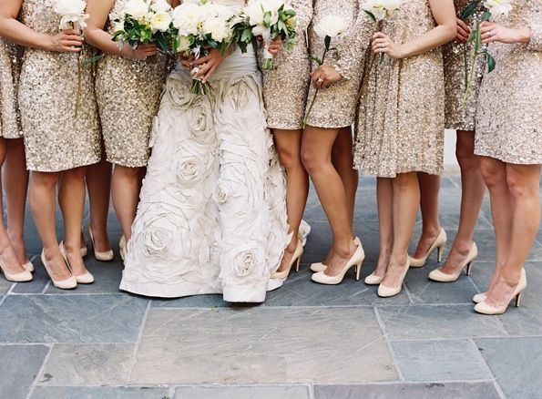 Champagne Wedding Dress Black Bridesmaids Wedding-bridesmaid-dresses