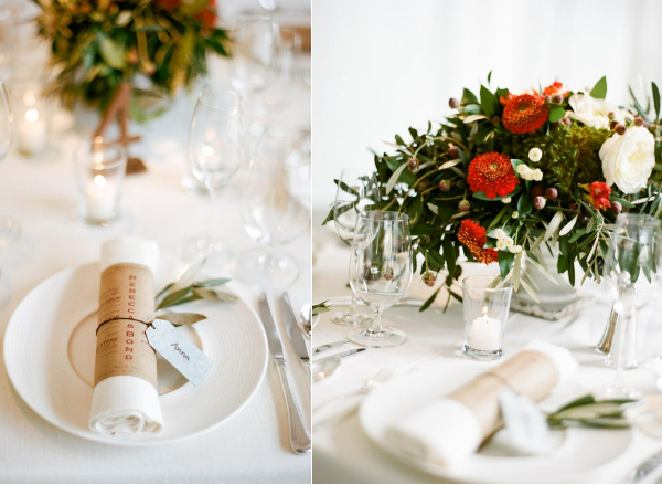 christmas-wedding-table-setting-red-flower-centerpiece-1 - Once Wed