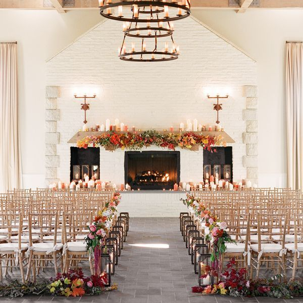 Indoor Wedding Themes: Fall-indoor-wedding-ceremony-early-mountain-vineyard
