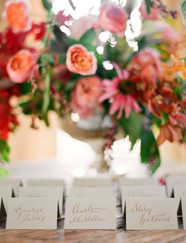 fall-weddings-escort-cards-gold-calligraphy-flowers