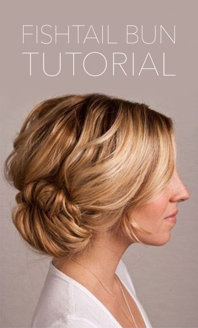 Fishtail Bun Wedding Hair Tutorial