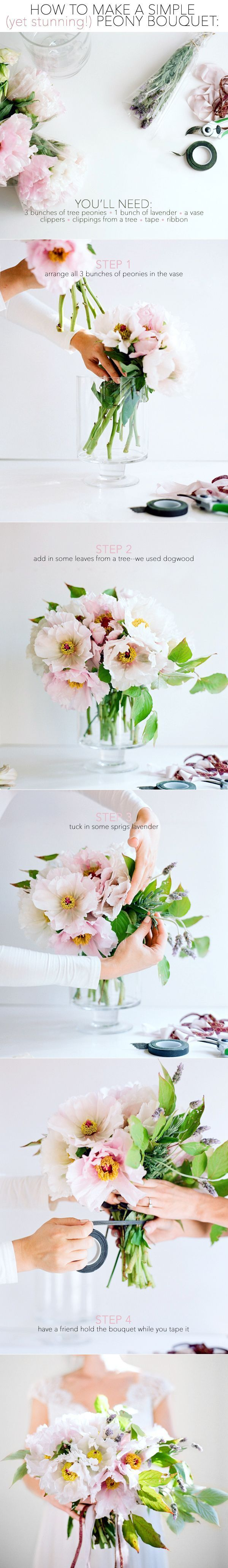 How To Make A Peony Bouquet