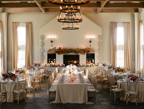 Indoor Fall Wedding Reception Early Mountain Vineyard