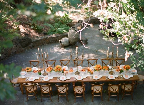 Orange Reception Table Ideas