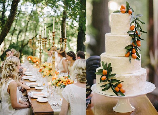 Orange Wedding Cake Ideas