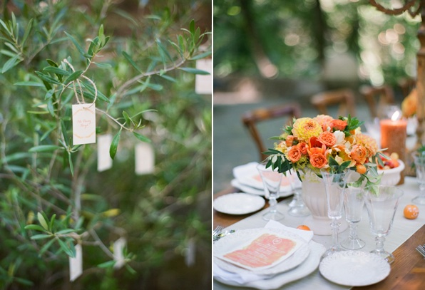 Orange Wedding Reception Decor Ideas