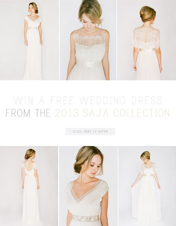 Win a Wedding Dress from Saja!