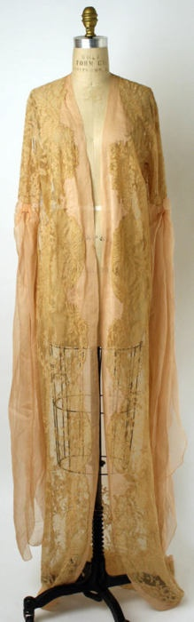 1920s tea gown gold