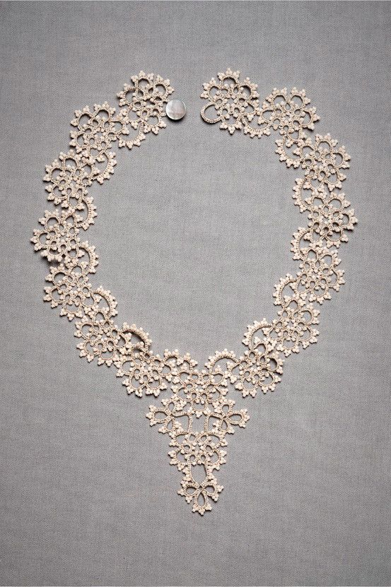 BHLDN queen annes lace necklace