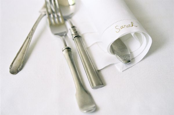 DIY personalized napkin