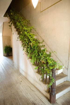 greenery bannister garland