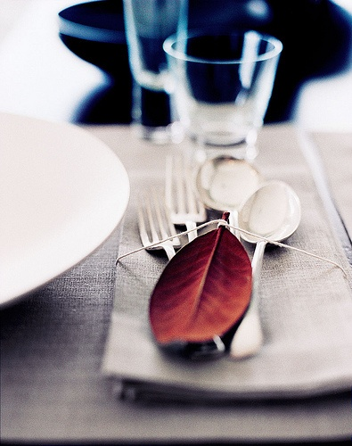diy leaf silverware
