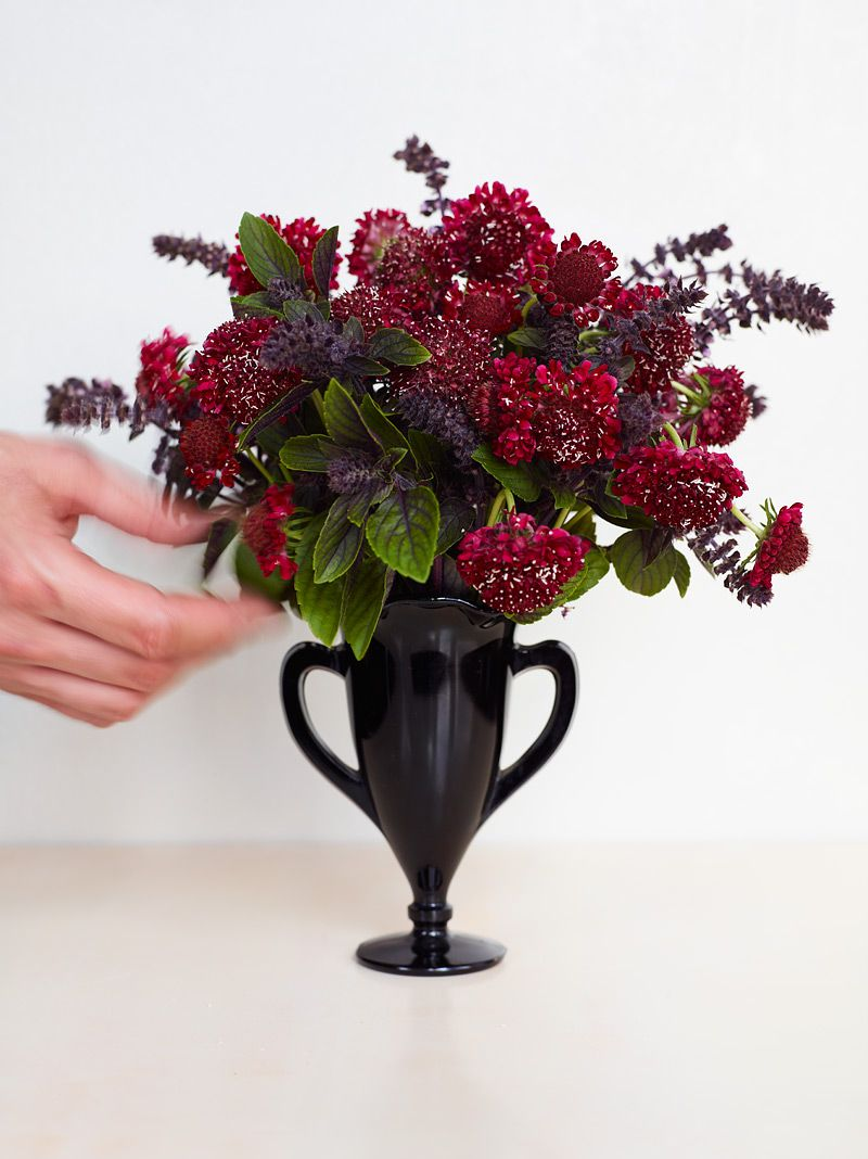pitcher black small arrangement