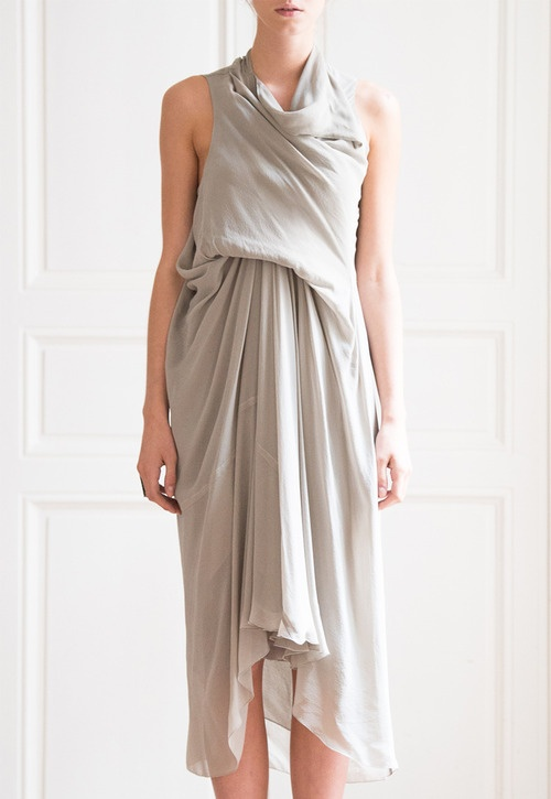 rick owens silk dress