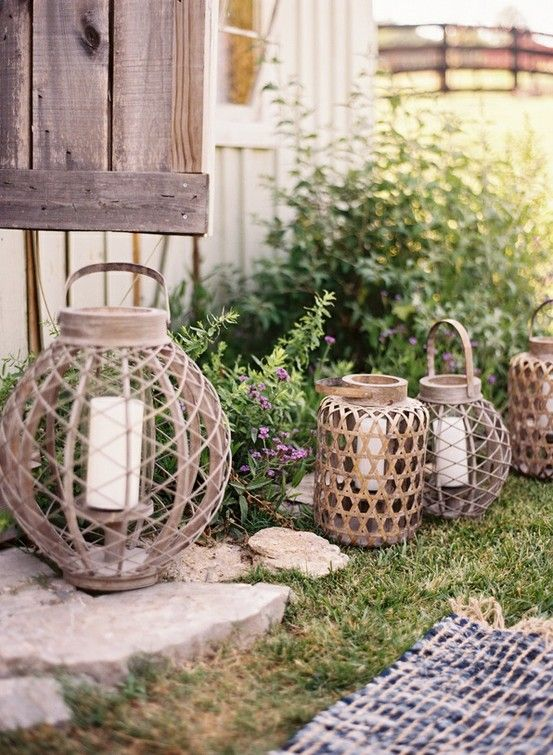 a chic rustic wedding lights