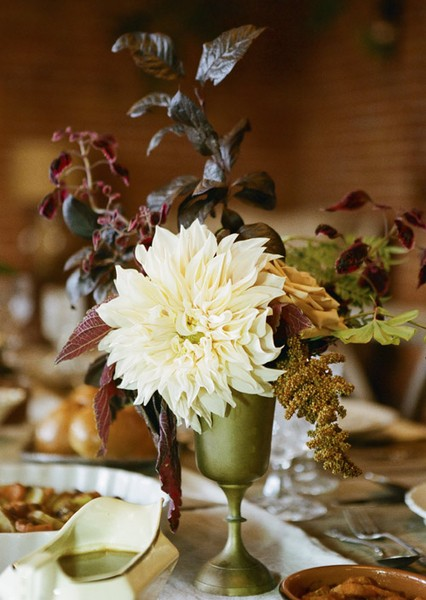 a rustic flower centerpiece